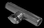 RVS Hengelhouder voor Railingmontage ( Ø25mm )  L=215mm  max. Ø40mm