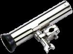 RVS Verstelbare Hengelhouder voor Railingmontage ( Ø25mm )  L=250mm  max. Ø40mm