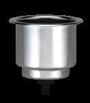 RVS Drankhouder  niet klapbaar  Boorgat 90mm  H=110mm
