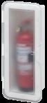 Kunststof Brandblusserhouder met transparante deksel  430x180x110mm