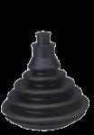 Kabeldoorvoer / Balg zonder Montagering  Gatmaat Ø70mm  H=109mm  Zwart