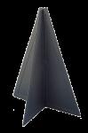 Kunststof Seinkegel  470x330mm  Zwart