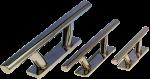RVS Klamp  boutmontage  160x38x75mm ( lxbxh )  Stok 280mm ( hartmaat: 95mm )