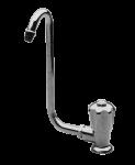 allpa Verchroomde Waterkraan met klapbare 10mm-uitloop  Aansluiting 3/8   Knop rechts