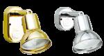 allpa Messing-Verchroomde Leeslamp  halogeen  wandmontage  verstelbaar  12V / 10W  Voetplaat 70x38mm