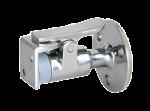 RVS Deurstopper / Houder  met Beugel  A=61mm  B=17mm  C=50mm  D=30mm