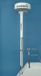 2.5m (8.3') complete pole system for 2kW / 4kW Raymarine| Garmin and Navico BR24 / 3G / 4G radomes