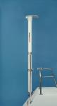 1.9m (6.4') complete pole system for Iridium Pilot Antenna