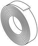 Isolatieband glaswol, t.b.v. uitlaatslang, rol 50m