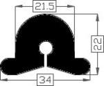 Inschuiffender TPE 34 x 22 mm