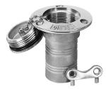RVS dekvuldop benzine 51 mm
